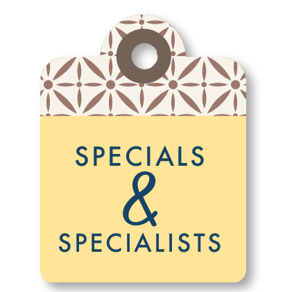 Specials & Specialists
